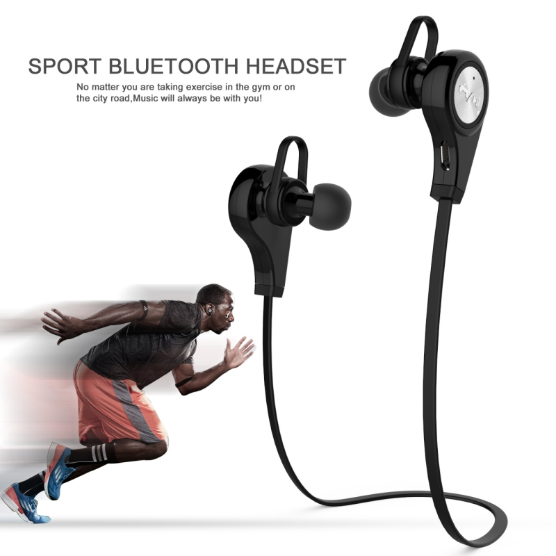 Q9 Sports Wireless Bluetooth 4.1 Earphone Headphones Headset Earpiece Stereo Earbuds with Mic for iPhone Android Phones remax 2 in1 mini bluetooth 4 0 headphones usb car charger dock wireless car headset bluetooth earphone for iphone 7 6s android