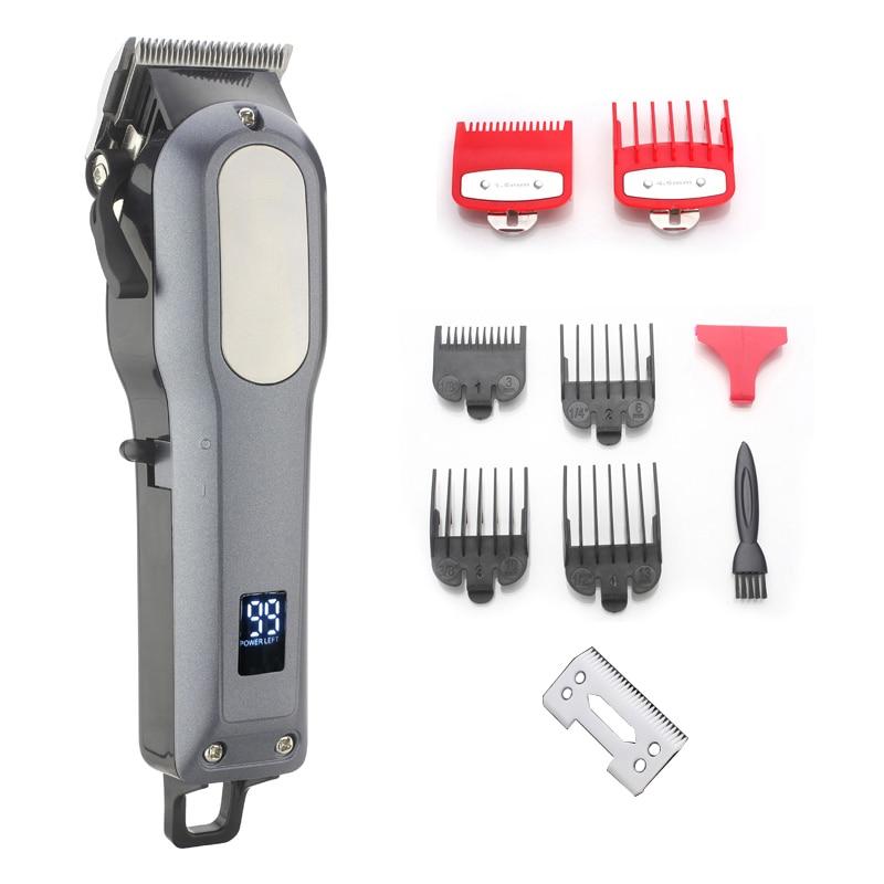 Tondeuse à cheveux rechargeable sans fil 2000mAh batterie au Lithium 6000-6500rm tondeuse à cheveux professionnelle avec cadeau