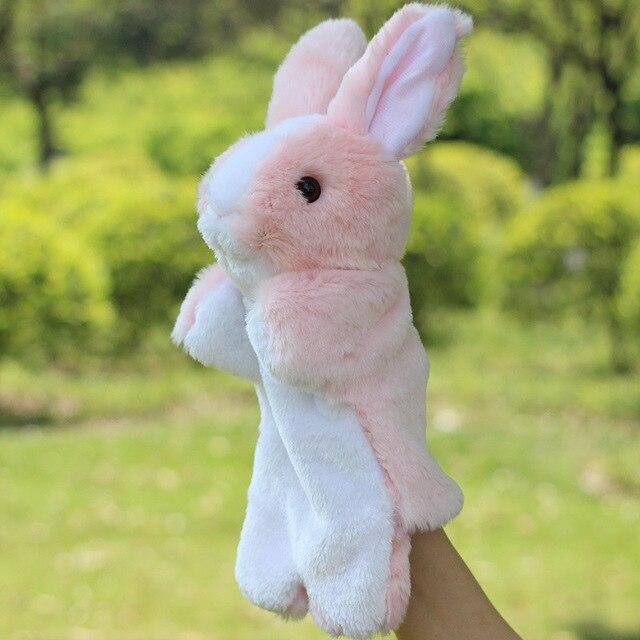 30CM Christmas Plush Baby Toys Rabbit Animal Boys Girls Finger Puppets Hand Puppet Toys for Children