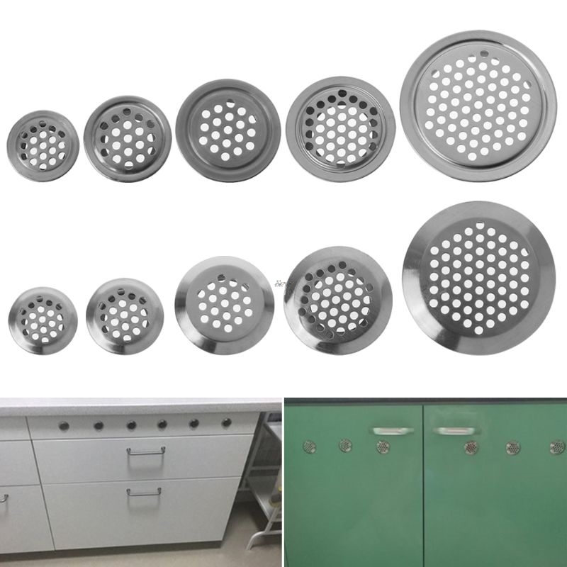 1PC Stainless Steel Hole Ventilation Louver Round Shaped Venting Mesh Holes 19mm, 25mm, 29mm, 35mm, 53mm