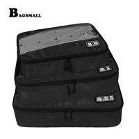 BAGSMALL Brand Clothing Organizers Bags Luggage Packing Cubes Breathable Travel Bags For Shirt Pants Bra Socks