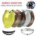 5 colores evo motocicleta parabrisas para vintage burbuja casco visera viseras lente casco máscara bv01
