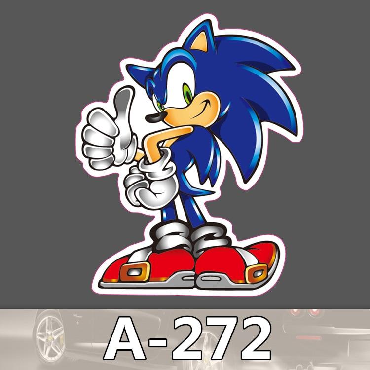 A-272 Sonic The Hedgehog Waterproof Fashion Cool DIY Stickers For Laptop Luggage Fridge Skateboard Car Graffiti Cartoon Stickers