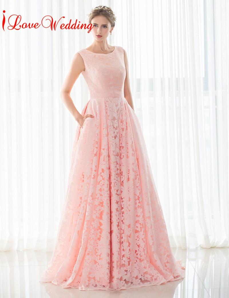 2017 rosa vestidos de noche sin mangas del o-cuello del vendaje - Vestidos para ocasiones especiales