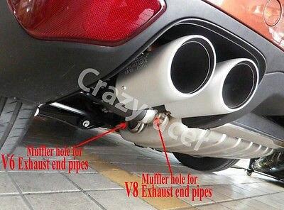 Для Porsche Cayenne V8 черный хвост выхлопные наконечники Глушитель Трубы 2011-2014