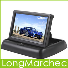 "Sale New 4.3"" TFT LCD Car Monitor With 2Ch Video Input For Car Rear View Reversing Camera Or DVD Support NTSC / PAL(China (Mainland))"