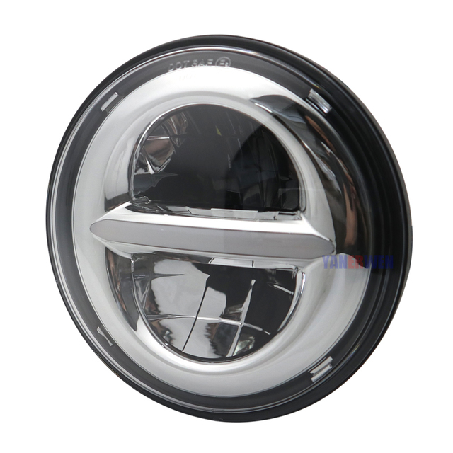 """5.75 5 3/4"""" 50W High/Low Beam Motorcycle LED Headlight 5.75 Inch Round H4 Projector Head Lamp for Motorcycle DOT Approved"""