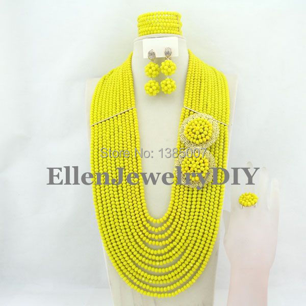 African Wedding Jewelry Set Crystal Jewelry Set African Beads Necklace Set Crystal Beads Necklace Set W7039 set peperuna set