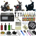 OPHIR 351pcs/set Tattoo Complete Kit w/ 3 Tattoo Machine Guns 12 Color Inks 50pcs Needles Nozzle Grips Set Tattoo Supplies_TA081