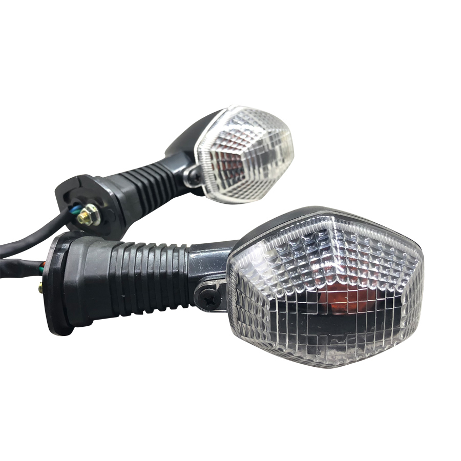Yecnecty For Suzuki DL 650 DL1000 V-Strom SV650 SV1000 N/S Motorcycle Turn Signal Light 2PC Front Rear White Lens Lamp Indicator