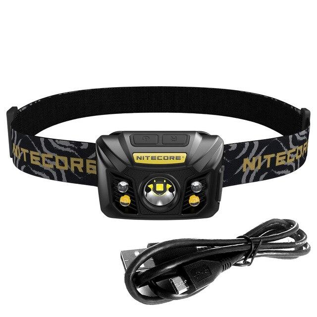 NITECORE NU32 USB 充電ヘッドライト CREE XP G3 S3 最大 550 ルーメン軽量 headhead と内蔵バッテリーの検索救助  グループ上の ライト & 照明 からの ヘッドランプ の中 1