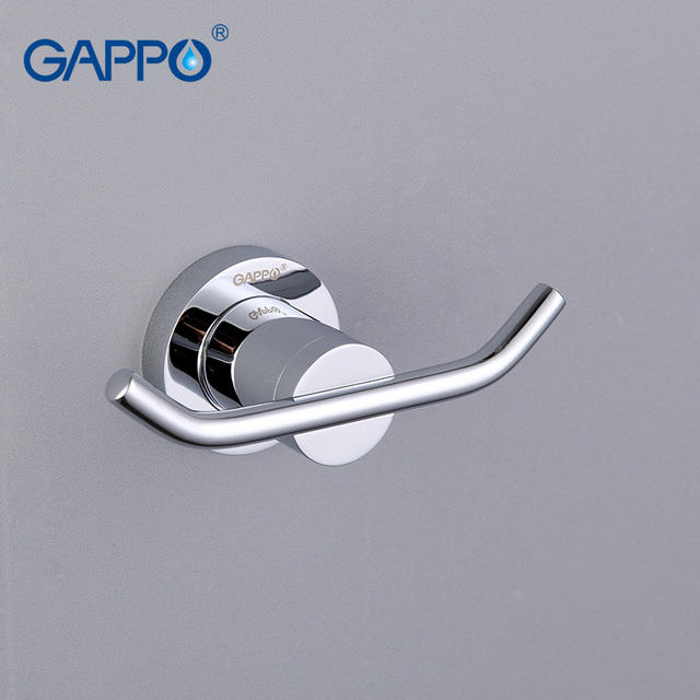 GAPPO High quality Restroom Tower Holder Wall-mount Zinc-alloy hooks Clothes Hook Bathroom accessories GA1805-2