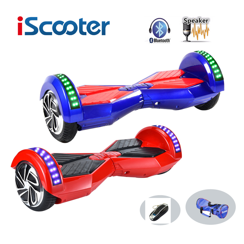 New IScooter Hoverboard 8 Inch 2 Wheel Self Balancing ScootersSmart Electric Scooter Balance Hover Board With