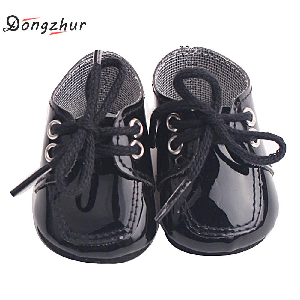 Dongzhur 18 American Girl Doll Shoes And Accessories Handmade Shoes Fits 43cm Dolls PU Princess Shoes 18 Inch Doll Accessories american girl doll clothes superman and spider man cosplay costume doll clothes for 18 inch dolls baby doll accessories d 3