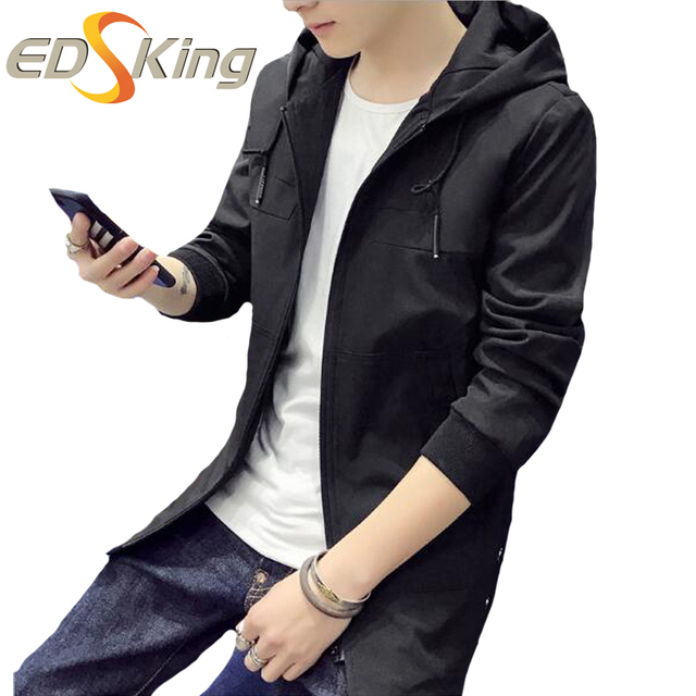 Autumn Winter New Mens Jacket Korean Slim Thin Section Casual Pocket