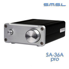 Buy online SMSL SA-36A Pro 25W*2 TDA7492PE Digital HIFI Power Amplifier silver color+12V 3.8A adaper