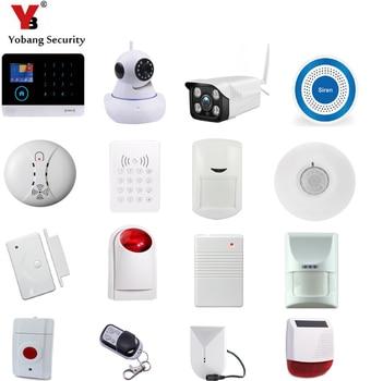 YobangSecurity wideo kamera IP dymu ogień gazu czujnik ruchu pir motion syrena dla WIFI GSM GPRS RFID domowy system przeciwwłamaniowy