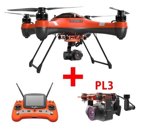 Swellpro Splash Drone 3 Waterproof with Monitor Fisherman Quadcopter RTF with PL2 or PL3