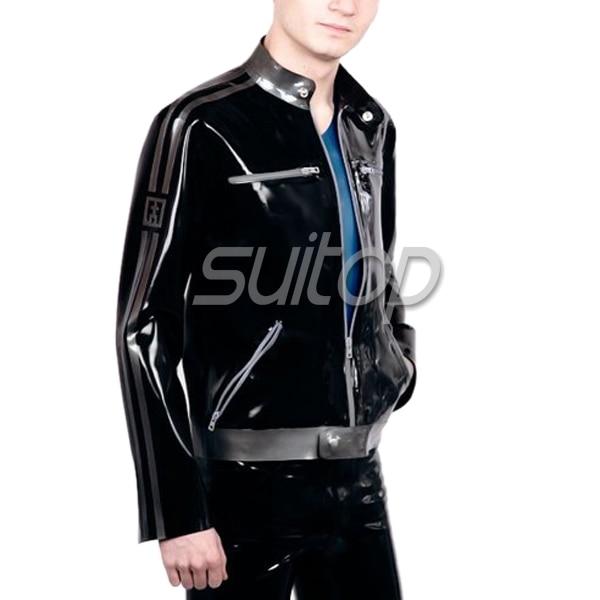 latex coat men's rubber jackets