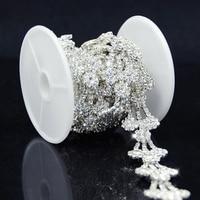 1 Yard Wedding Bridal Clear Rhinestone Applique Costume Chain Sewing Trims 20mm R2102Y