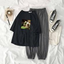 Женская рождественская печать Спортивная одежда Печатная футболка с короткими рукавами Femme Спортив