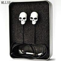 Halloween Metal Skull Anime In Ear Earphone 3 5mm Stereo Earbuds Phone Music Game Headset For