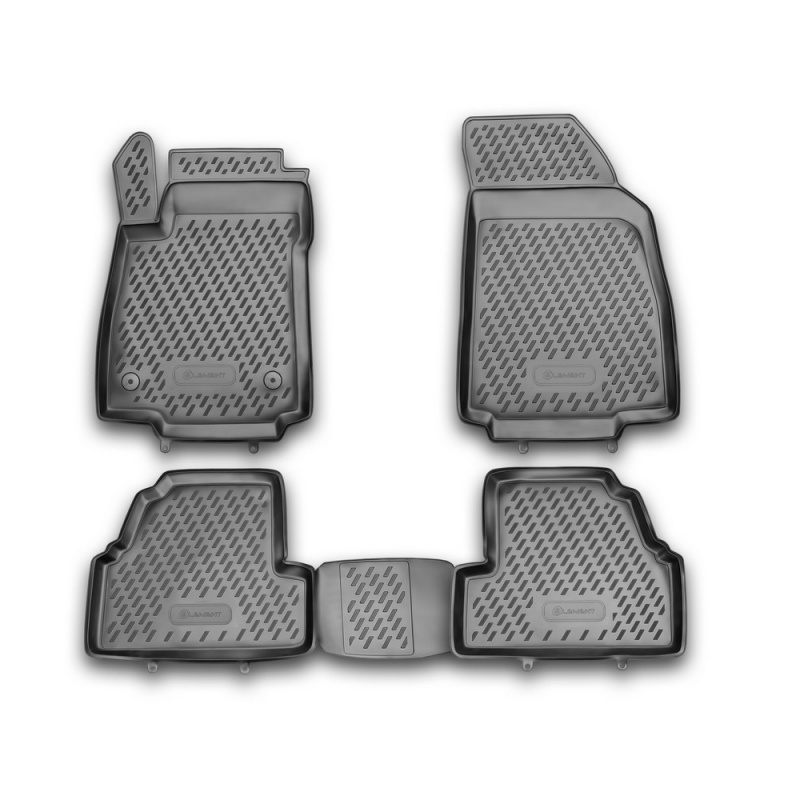 Mats in the salon For OPEL Mokka 2012-> 4 PCs (polyurethane) opel mokka 2012