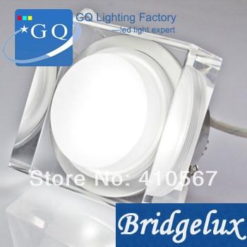 dhl fedex 6 w led luz de teto de cristal 600 660lm para baixo lampada