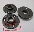 "16PCS/LOTS  Cast Iron Flanges Casting Antique Flange Base Bracket For G1/2"" Tube Pipe  Loft Industrial Style"