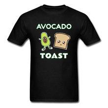 41f8f2d81 Avocado Toast T-shirts for Men Funny Tshirt Summer Design T Shirts Black  Tops Cartoon