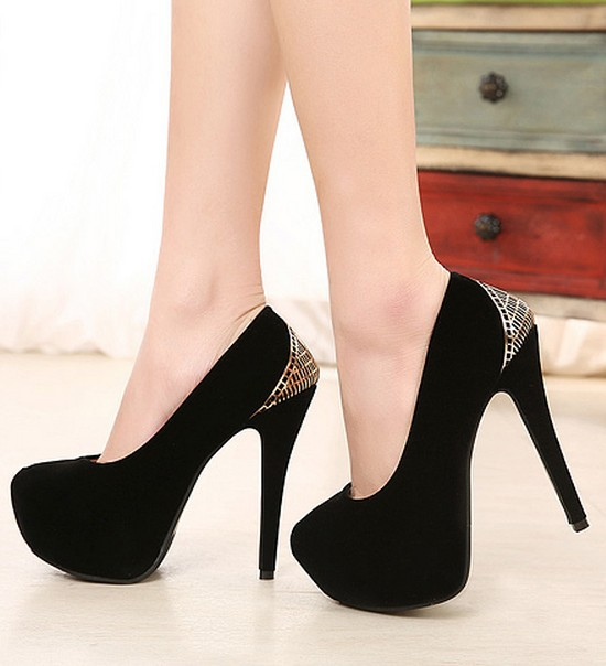 Chaussures de soirée à bout ouvert noires Fashion femme RaFGQ5YQ
