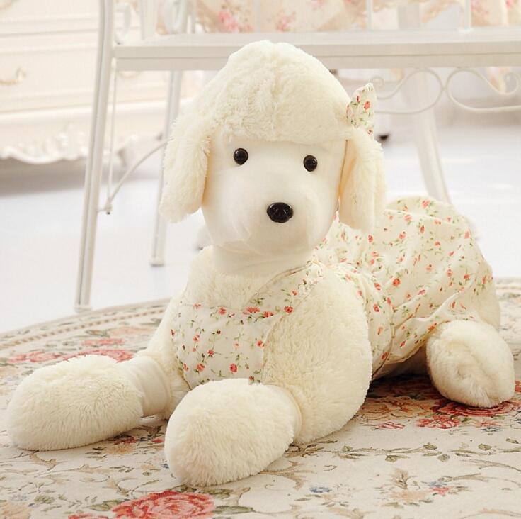 SST * 30 см Плюшевые игрушки Пудель щенок Куклы Мягкие лежит склонны собаки для девочек подарок на день рождения длинные уши Тедди собака caniche в... ...