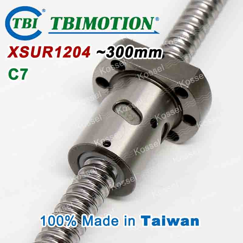 TBI Hot Sale XSU 1204 XSU1204 CNC Ball Screw 300mm ball screw ball nut and end machined for high stability linear CNC diy kit tbi dfi 2505 600mm ball screw milled ballscrew and end machined for high stability linear cnc diy kit
