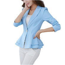TFGS Jacket Blazer Women Suit Foldable Long Sleeves Lapel Coat Candy Color Single Button Blazers Jackets