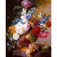 Free Shipping New 3D DIY Diamond Painting Euopean Style Flowers Cross Stitch Diamond Embroidery Scroll Painting