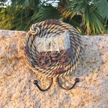 Mittelmeer Europäischen cowboy kreative persönlichkeit verbunden weiche montiert mantel haken Wand Dekoration