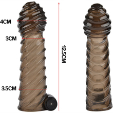 Black Oscillator Dick Enhancer Silicon Sheath Adult Sex For Male