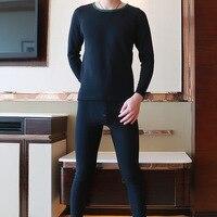 1 Set Men S Thermal Underwear Sets Compression Sport Fleece Sweat Thermo Underwear Men Clothing Long