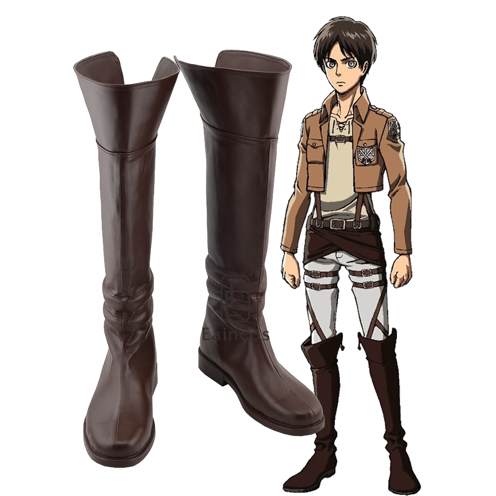 Anime Attack on Titan Eren Jaeger Cosplay Shoes Halloween Carnival Boots Custom-made