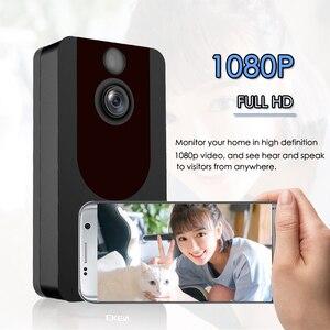 Image 4 - EKEN V7 HD 1080P akıllı WiFi Video kapı zili kamera görsel interkom gece görüş IP kapı zili kablosuz güvenlik kamera