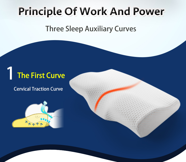 New soft Memory Foam Bedding Pillow Neck protection Slow Rebound Memory Foam Butterfly Shaped Pillow Health Cervical Neck in Decorative Pillows from Home Garden