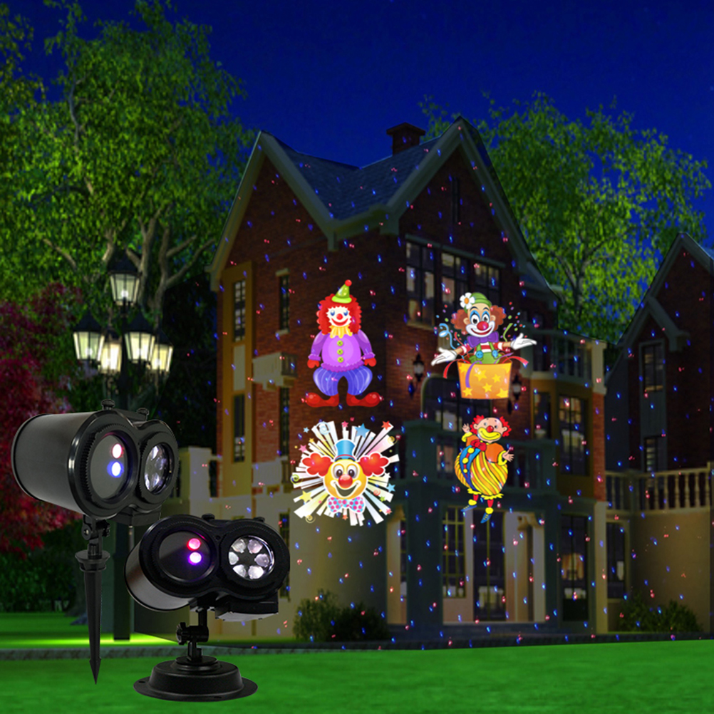 waterproof moving christmas led projector lights colorful multi patterns outdoor spotlight holiday decoration for landscapeg in party diy decorations from - Christmas Led Projector