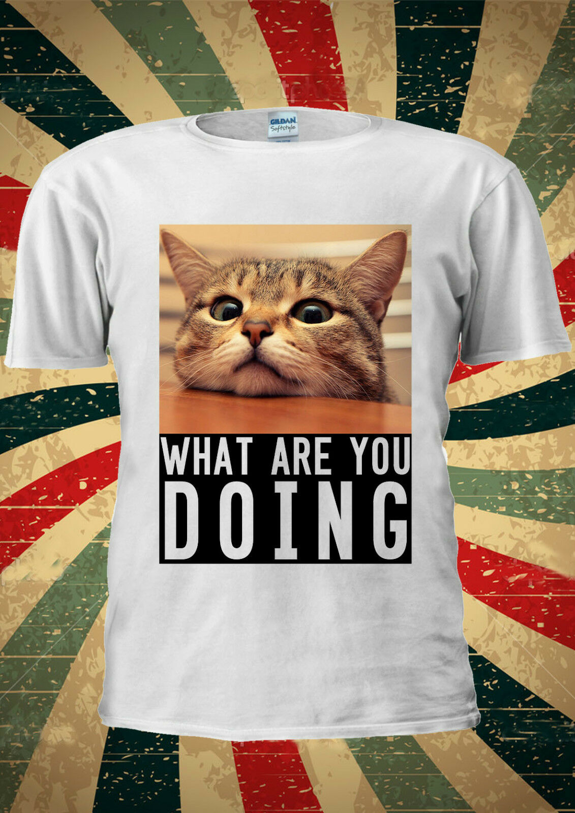 Funny Cat Kitten What Are You Doing <font><b>Bored</b></font> <font><b>T</b></font> <font><b>Shirt</b></font> Men Women Unisex 18262019 fashionable Brand 221%cotton Printed Round Neck <font><b>T</b></font>-sh image