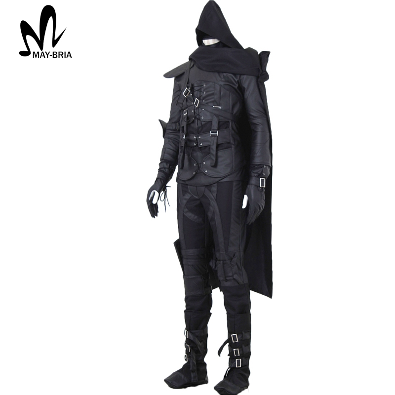 halloween costumes for men adult game thief cosplay fancy thief hero 4 garrett cosplay costume black suit garrett thief costume in game costumes from