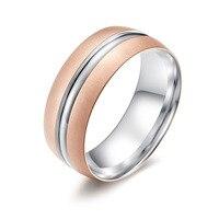 Amgj 8 мм розового золота чистого карбида Вольфрам Свадебные Обручальные кольца для Для мужчин щеткой пару ювелирные изделия любовника подар...
