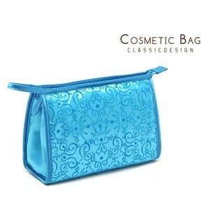 Pure quality tianlan Emboss three-dimensional concave convex high quality satin cosmetic bag storage bag excellent