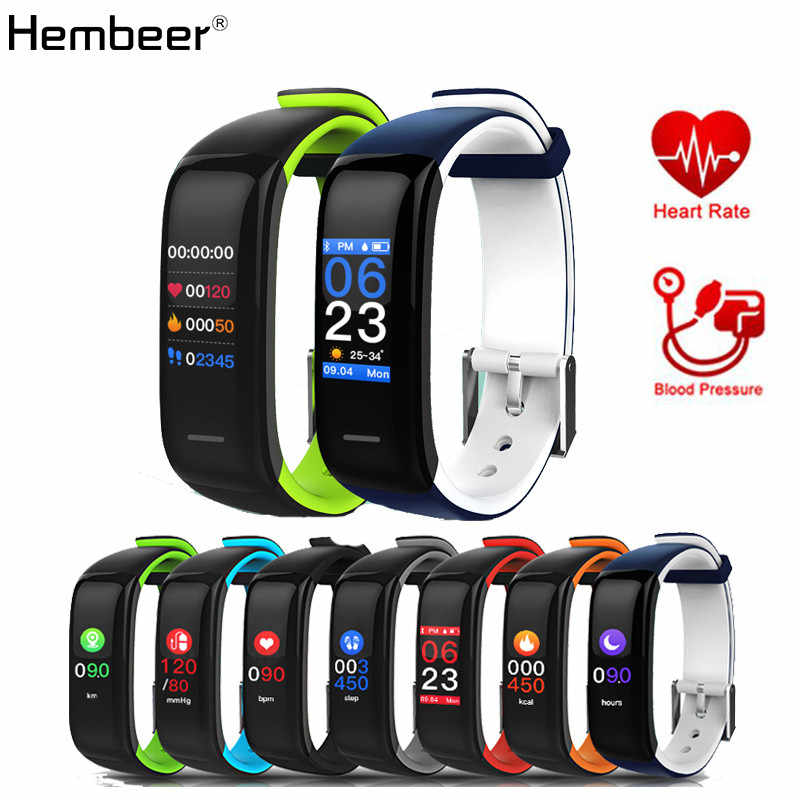Hembeer H1 Plus Smart Band  Heart Rate Monitor Blood Pressure Activity Tracker Color Screen for phone