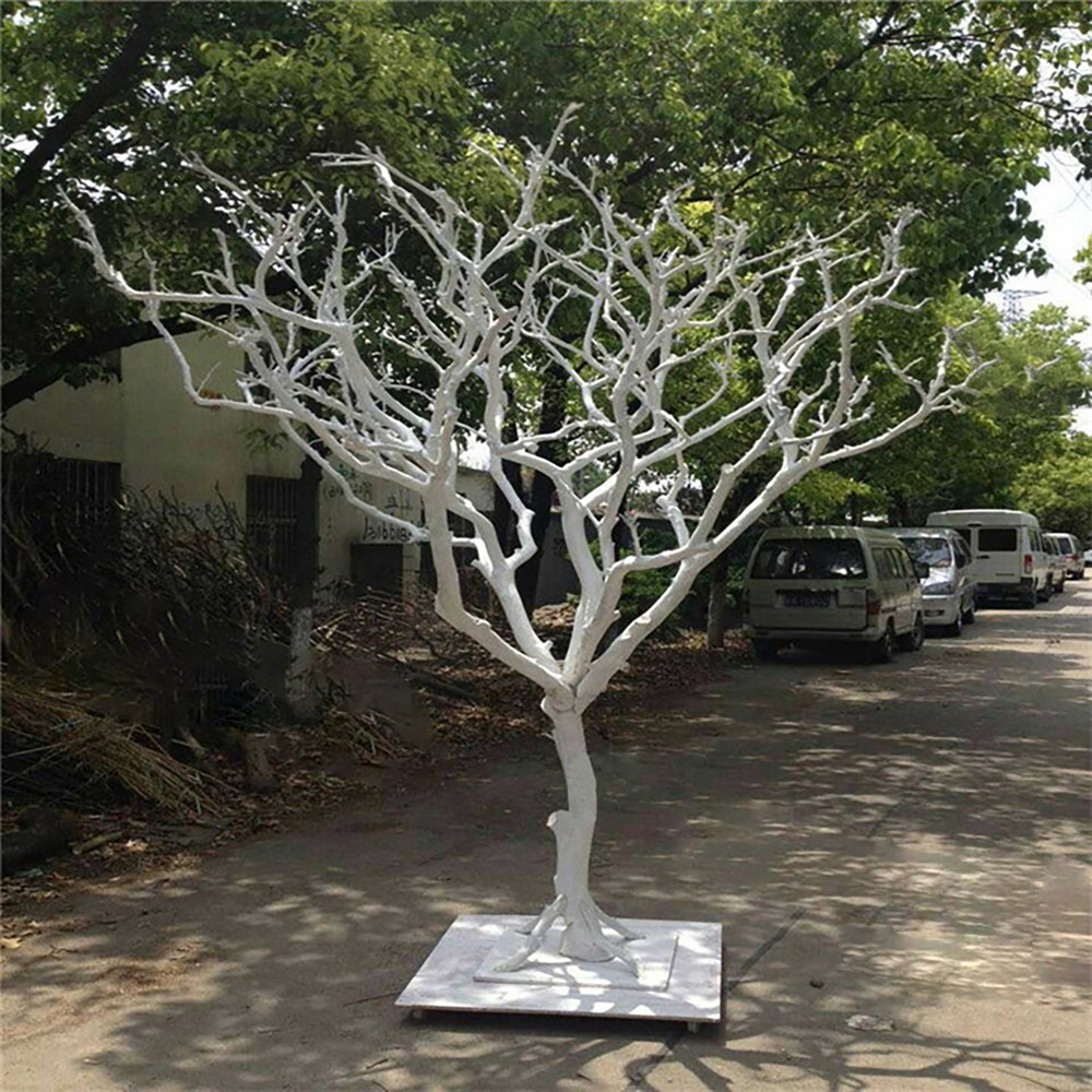 Home Reptile supplies box peeled tree decoration natural dry branches photography wedding props wishing Christmas white primly L