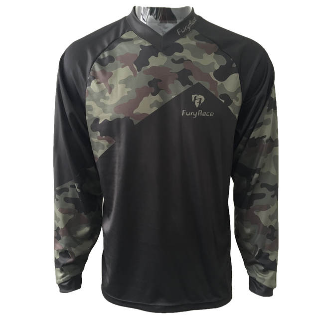 Online Shop Camouflage Mountain Bike Shirts Cycling Maillot Mens Mtb
