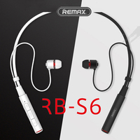Remax RB S6 Sports Neckband Bluetooth Headset Wireless Stereo Music Earphone Bluetooth V4.1 HD Mic Multi Connections For iPhone